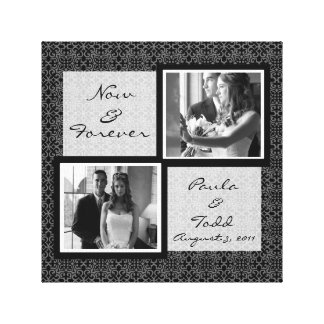 Adicione suas próprias canvas da foto do casamento
