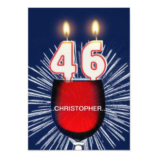 Adicione um nome, 46th convite de aniversário,
