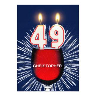 Adicione um nome, 49th convite de aniversário,