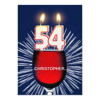 Adicione um nome, 54th convite de aniversário,