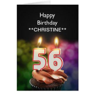 Adicione um nome, 56th cartão de aniversário