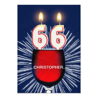 Adicione um nome, 66th convite de aniversário,