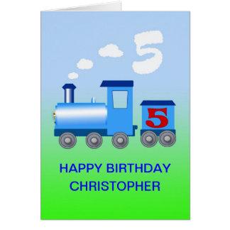 Adicione um nome a um 5o cartão de aniversário