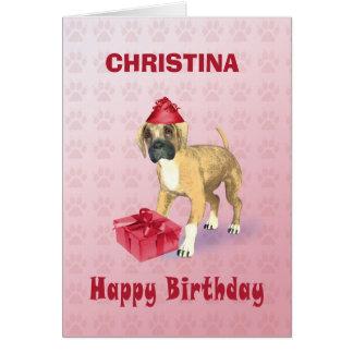 Adicione um nome a um cartão de aniversário com um