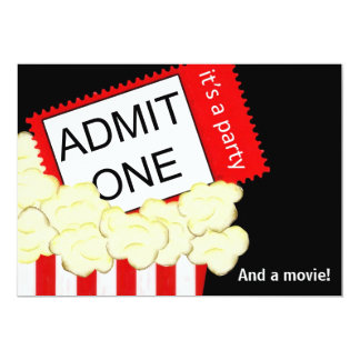 Admita uns filme e convite de aniversário