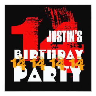 Adolescente de 14 anos V06 da festa de aniversário Convites Personalizados