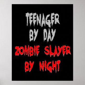 Adolescente do assassino do zombi pôster