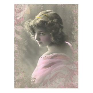 Adolescente do Victorian do vintage no cartão Cartão Postal