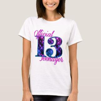 Adolescente oficial camiseta