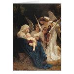 Adolfo-William Bouguereau. Canção dos anjos Cartao