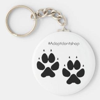 #adoptdontshop dos pés do cachorrinho do chaveiro