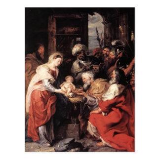 Adoração de Peter Paul Rubens- dos Magi Cartão Postal