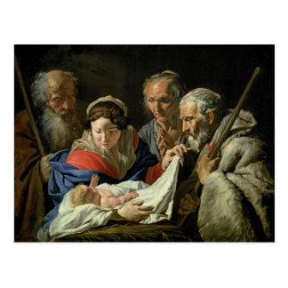 Adoração do Jesus infantil Cartão Postal