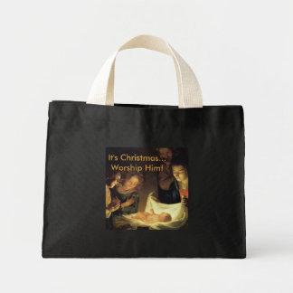 Adoração do saco do Natal da criança Bolsa Para Compra