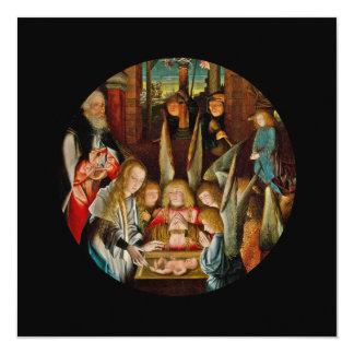 Adoração dos anjos convite quadrado 13.35 x 13.35cm