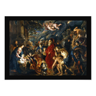 Adoração dos Magi por Rubens Convite 13.97 X 19.05cm
