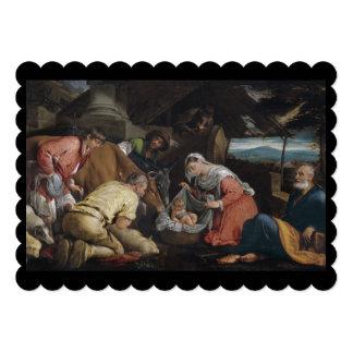 Adoração dos pastores convite 12.7 x 17.78cm