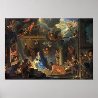 Adoração dos pastores Le Brun Poster