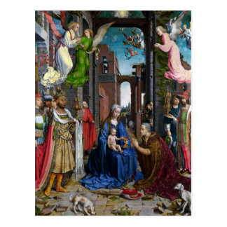 Adoração dos reis por Murillo Cartão Postal