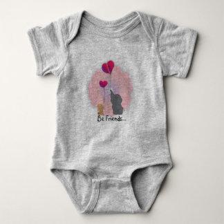 Adorável seja babygrow dos amigos body para bebê