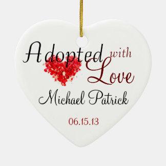 Adotado com o ornamento da adopção do amor