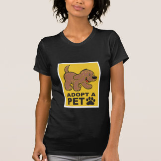 Adote um animal de estimação para T escuro T-shirt