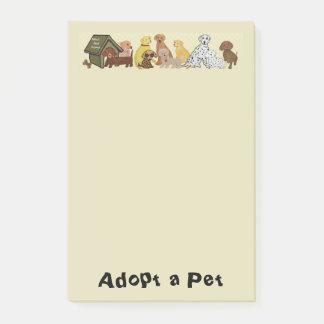 Adote um animal de estimação sticky note