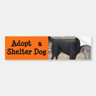 Adote um autocolante no vidro traseiro do cão adesivo para carro