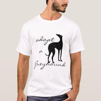 Adote um cão do galgo camiseta