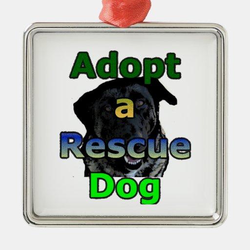 Adote um cão do salvamento enfeites