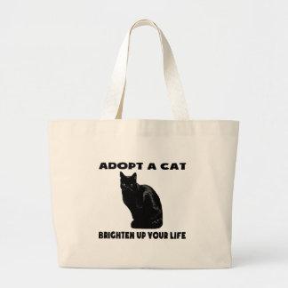 Adote um gato bolsas de lona
