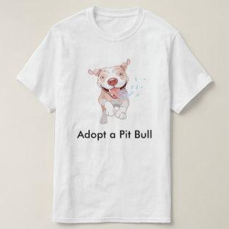 Adote um t-shirt do pitbull camiseta
