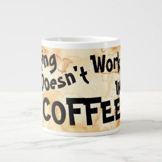 Adulting não trabalha sem café - caneca
