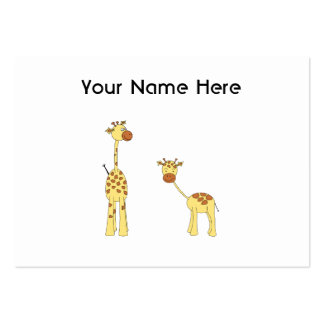 Adulto e girafa do bebê Desenhos animados Modelo Cartão De Visita
