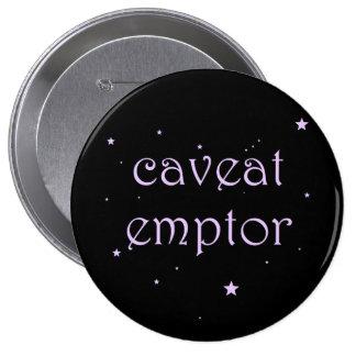 Advertência Emptor - Carpe Diem Bóton Redondo 10.16cm