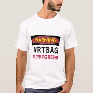 ADVERTINDO, camisetas engraçadas EM ANDAMENTO de