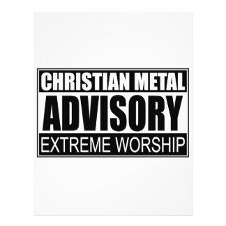 Advisory cristão do metal… panfleto personalizados