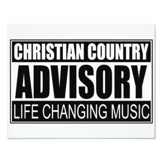 Advisory cristão do país… convite 10.79 x 13.97cm