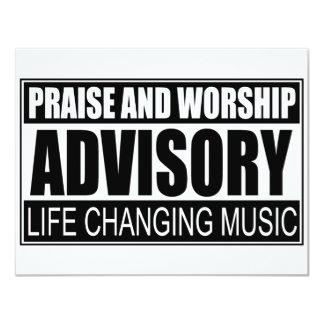 Advisory do elogio e do culto… convite 10.79 x 13.97cm