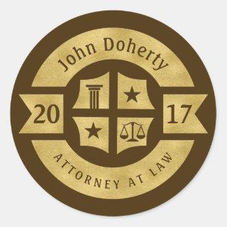 Advogado 2017 do advogado no melhor ouro da lei | adesivo