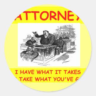 advogado adesivos em formato redondos
