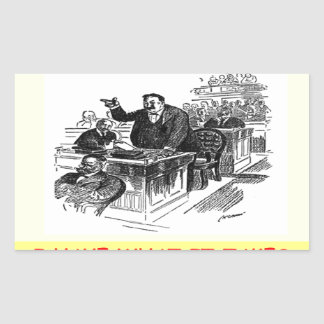 advogado adesivo retangular