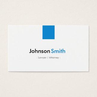 Advogado/advogado - azul simples do Aqua Cartão De Visitas