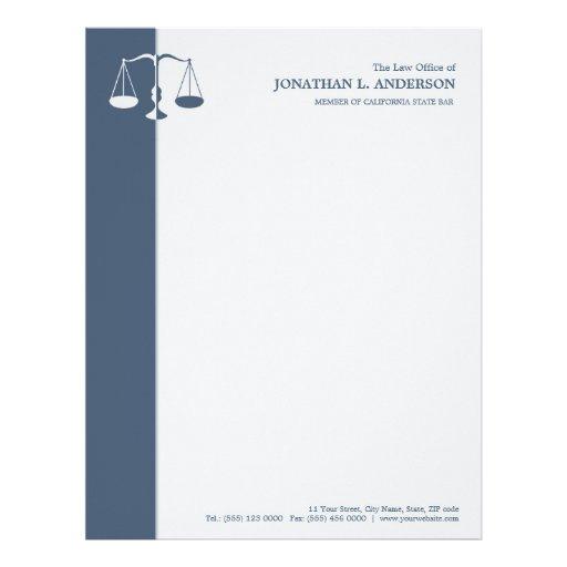Advogado/advogado - cabeçalho azul papeis de carta personalizados