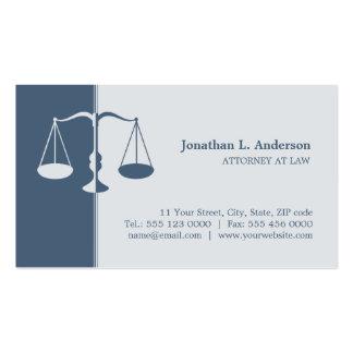 Advogado advogado - cartão de visita azul