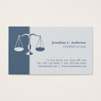 Advogado/advogado - cartão de visita azul