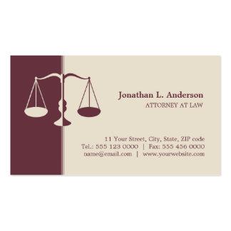 Advogado advogado - cartão de visita de Borgonha