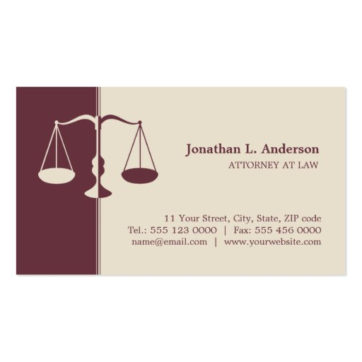 Advogado/advogado - cartão de visita de Borgonha