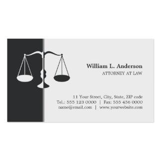 Advogado advogado - cartão de visita do cinza de c