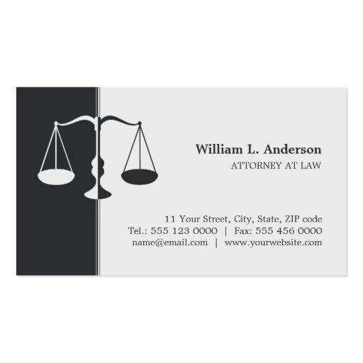 Advogado/advogado - cartão de visita do cinza de c